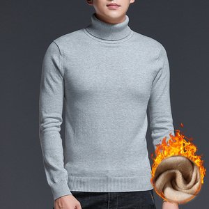 Image 3 - Brand New Casual Turtleneck Sweater Men Pullovers Thick Warm Autumn Fashion Style Sweater Male Solid Slim Fit Knitwear Pull Coat