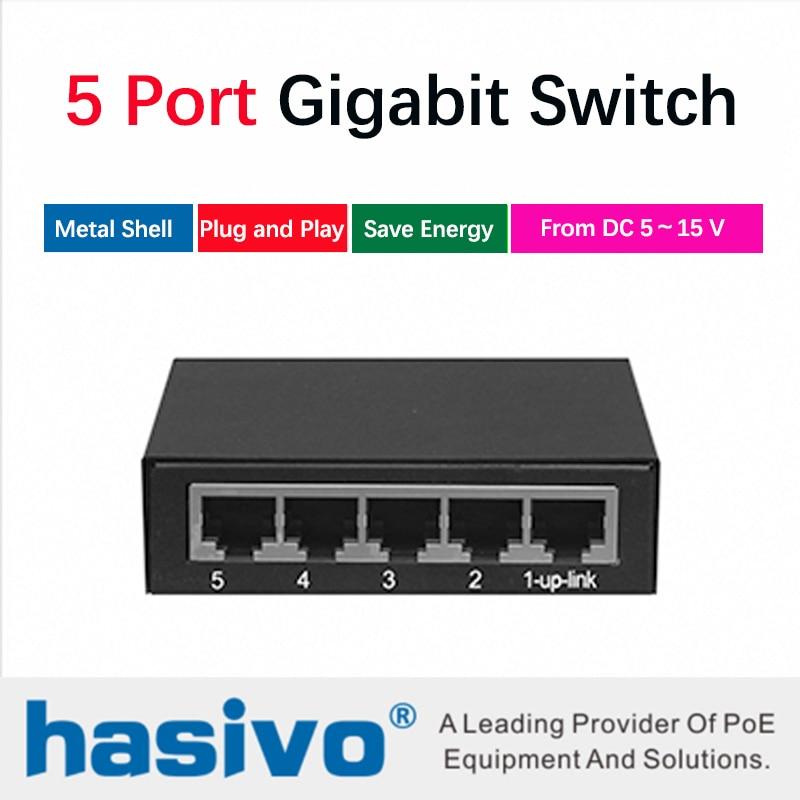 Gigabit Switch 5 Port Gigabit Desktop Switch Ethernet Network Switch 5 Port 10/100/1000M