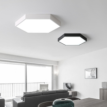 Polygon slim LED Modern Ceiling Lights Acrylic+iron Alloy Black White Lamp.LED Light.Ceiling Lamp For Foyer Bedroom