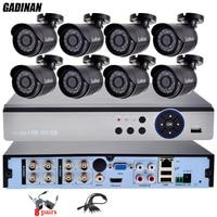 GADINAN 8CH 4MP AHD DVR Home Outdoor CCTV Kit With 8PCS AHD 3MP 2048 1536 Surveillance