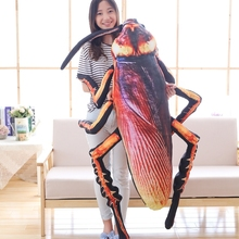 Instagram Hottest Creative Simulation 3d Printed Cockroach Plush Toy Insect Pillow Cushion For Children Birthday Gift