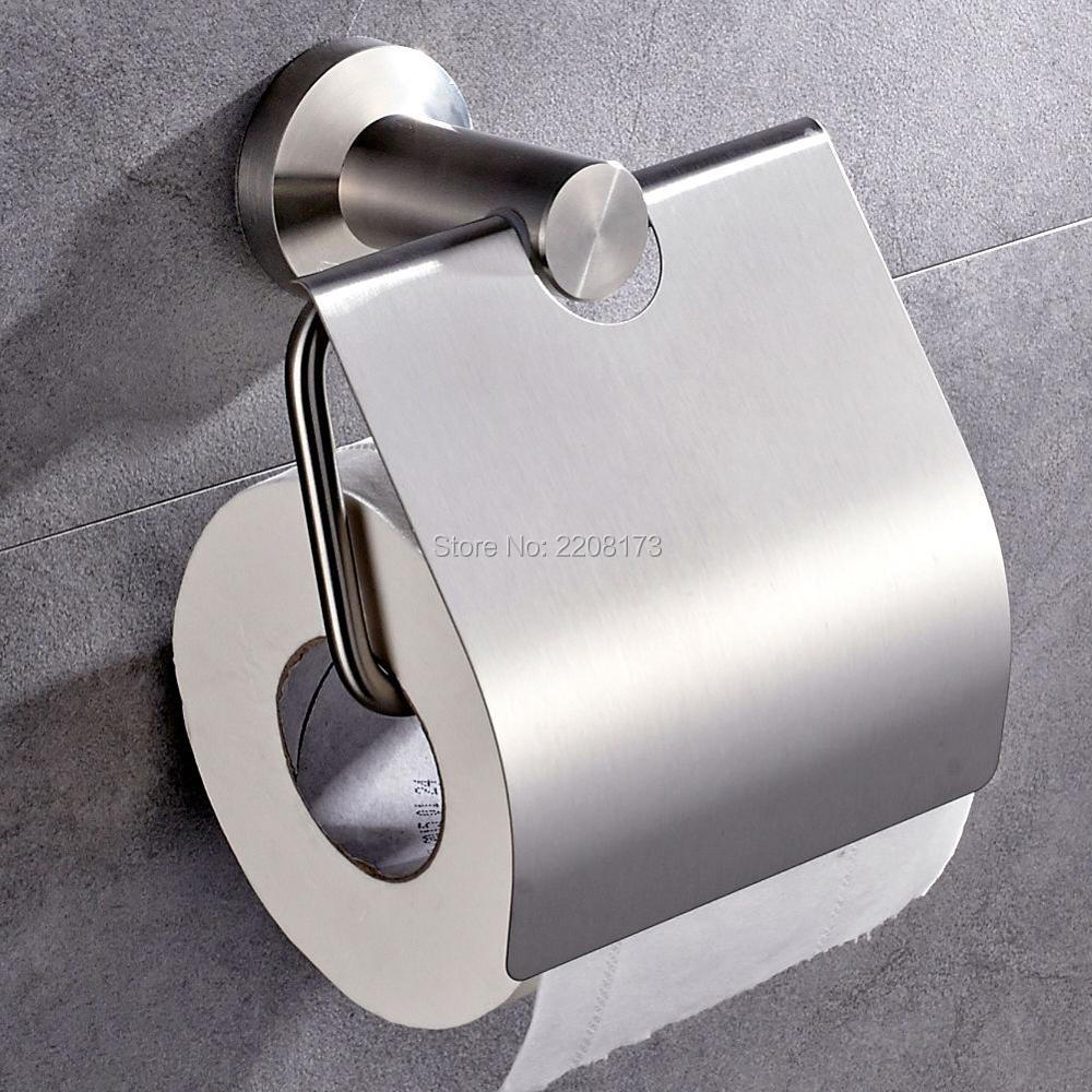 Wholesale And Retail Promotions Stainless Steel BrushedNickel Plated Bathroom Toilet Paper Holder Tissue Box Holder wall mounted
