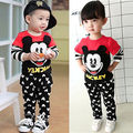 2016 Newest  Baby Kids Boys Girls Clothes Long Sleeve Minnie Cartoon Mouse Printed Sport Tracksuits 2pcs Outfits Sets 1-6Y