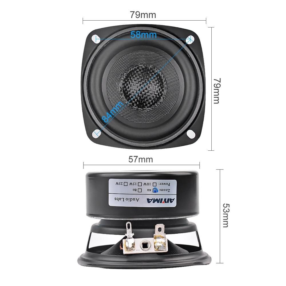 AIYIMA 2Pcs 3Inch Audio Portable Speakers Altavoz Portatil 4 8 Ohm 20W Full Range Hifi Music Speaker DIY For Home Theater