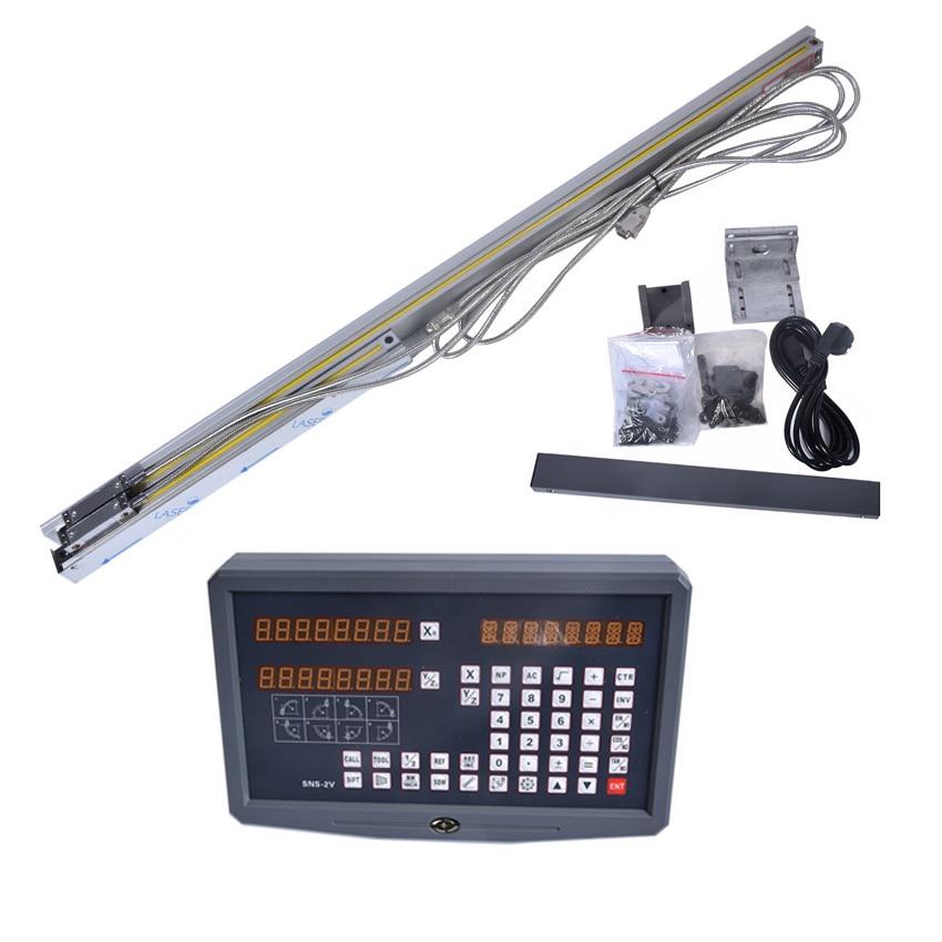 1 ensemble tour/fraisage/perceuse/EDM/CNC machine 2 axes lecture numérique DRO et échelle linéaire/capteur linéaire