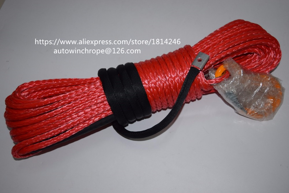 Good Quality Red 5/16*100ft Synthetic Rope,Tow Rope Car,Spectra Rope,Winch Line,Replacement Winch Cable free shipping 8mm 30m red synthetic kevlar winch cable winch rope extenstion atv winch line uhmwpe rope