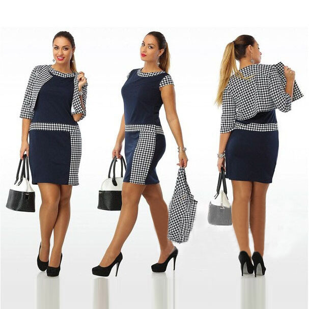 Women Two Piece Outfits Autumn 2015 New Designer Patchwork
