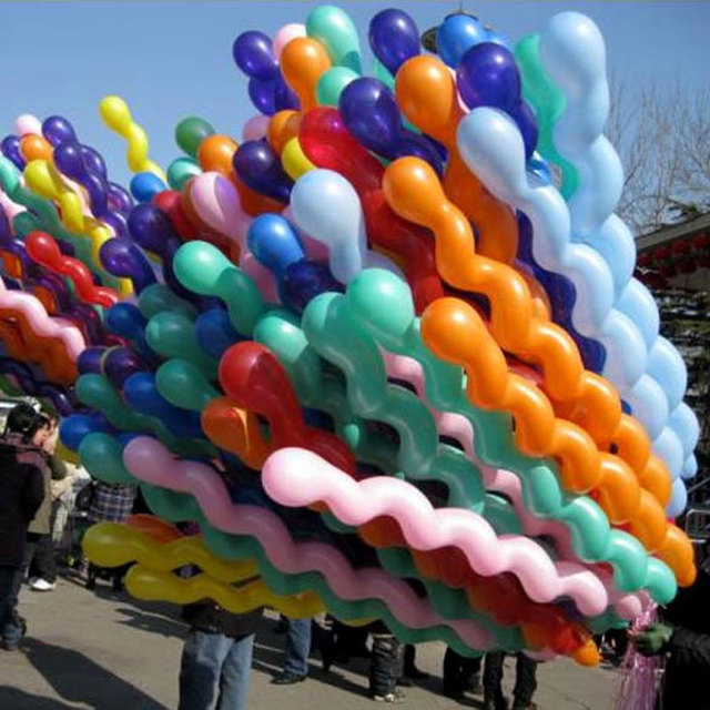 unids colorful helio espiral globos fiesta de cumpleaos decoracin globos de ltex