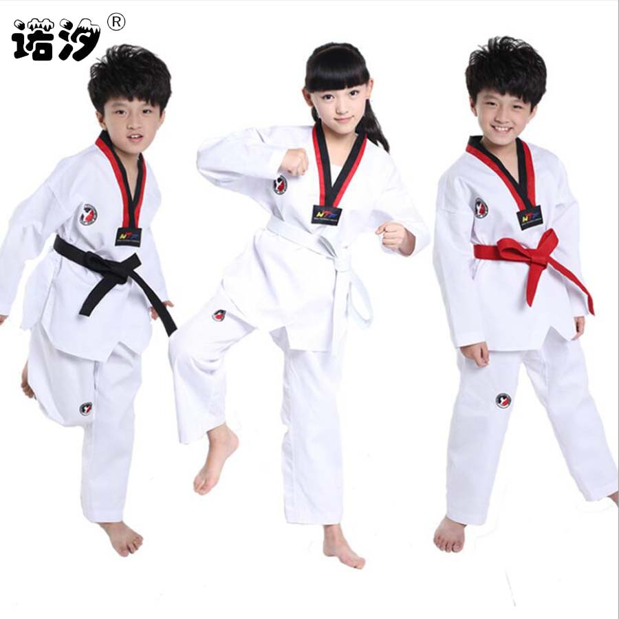 Children clothes kids cotton Tae Kwon Do sets boys shirt+trousers 3-15 Y girls active outwear kids sport clothes sets girls tops