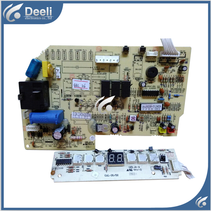 95% NEW for air conditioning board computer board GAL0902GK-01 Display receiving plate GAL-D5/D2 2pcs/set wire universal board computer board six lines 0040400256 0040400257 used disassemble