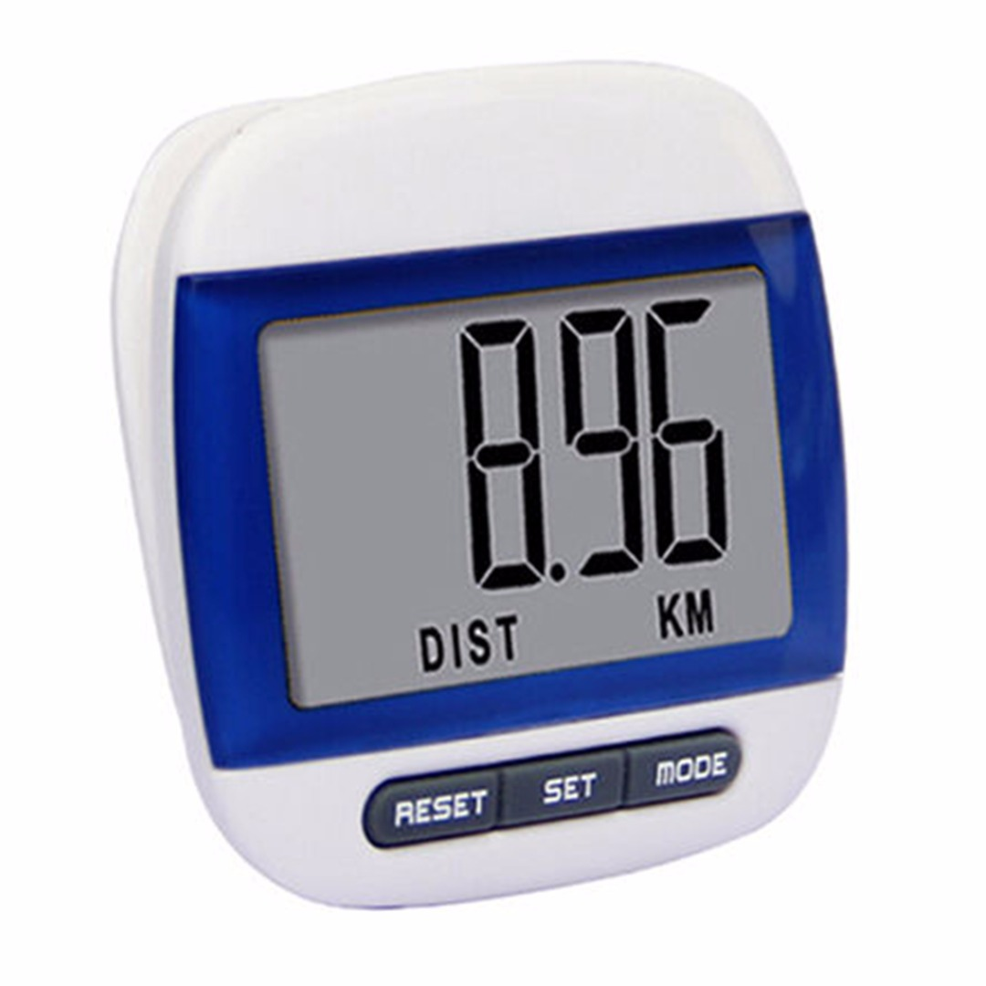 LCD Belt Clip Pedometer Walking Steps Count KM Distance Calculation Counter Digital Pedometers Fitness Equipment