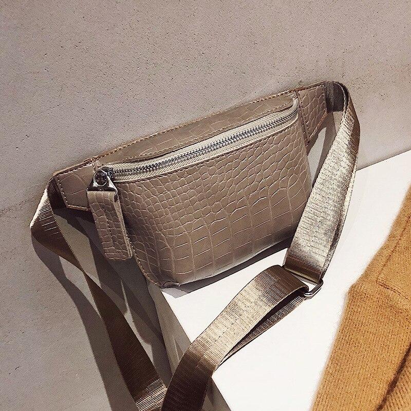 Alligator Leather Waist Bag Women Luxury Phone Pouch Fanny Pack For Women Chest Bag Female Waist Pack Ladies Heuptas Pochete