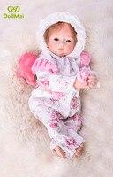 Lovely reborn baby girl dolls 1846cm soft silicone reborn baby dolls real baby princess BJD doll for child bebe gift reborn