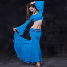 Bellydance oriental Belly Indian gypsy dance dancing costume costumes clothes bra belt chain scarf ring skirt dress set suit 197