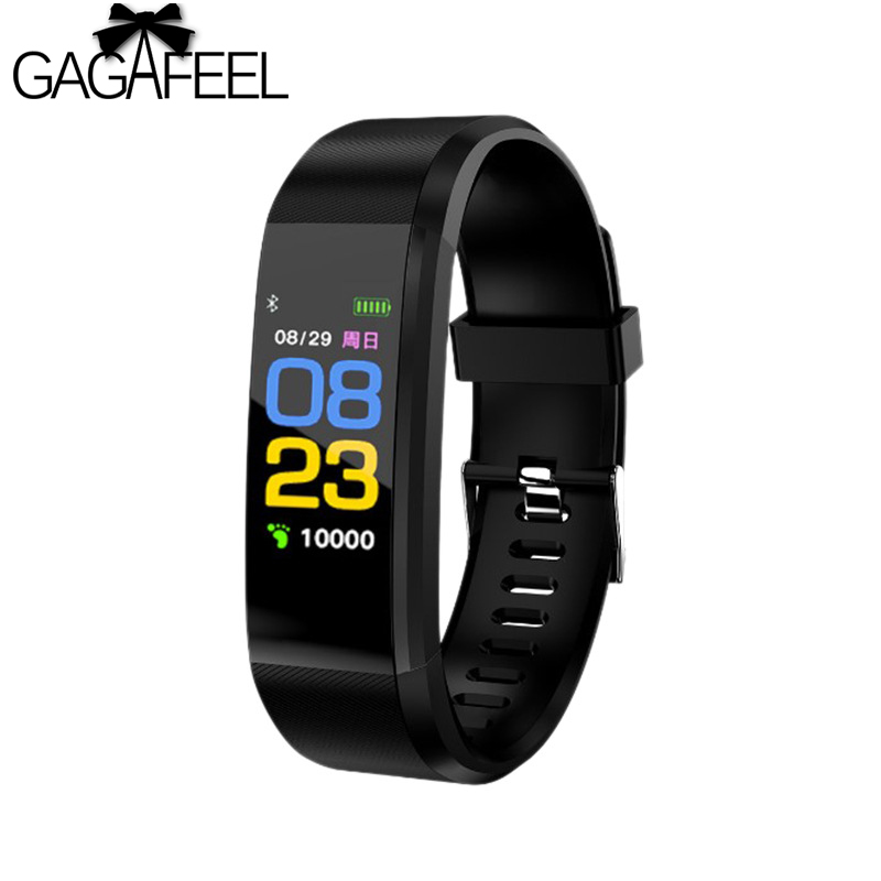 gagafeel 115plus Smart Watch Color Touch Screen Smart Bracelet Heart Rate Tracker Smartwatch Fitness Tracker for Android IOS