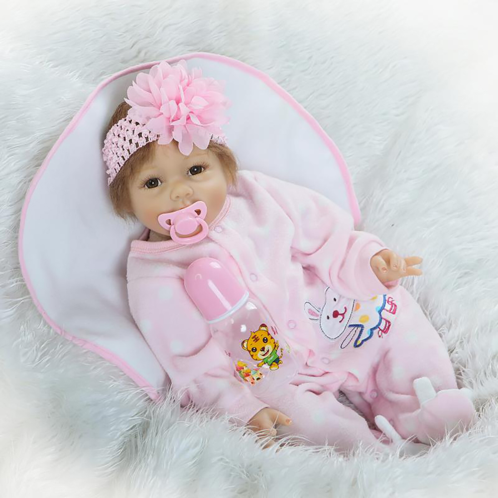Soft Vinyl silicone reborn baby doll toy lifelike 55cm newborn girl doll fashion birthday gifts girls brinquedos play house toy