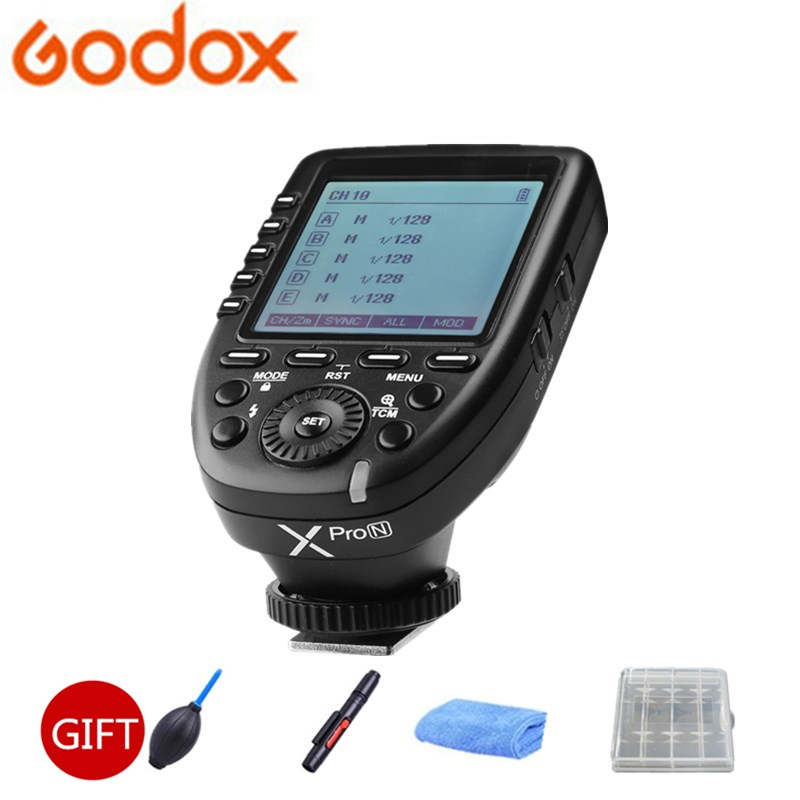 Godox Xpro-N i-TTL II 2.4G Wireless X system Trigger Sync 1/8000s High Speed with LCD Screen Transmitter For Nikon DSLR in the stock new arrival godox i ttl ii 2 4g wireless x system high speed with big lcd screen transmitter xpro n for nikon