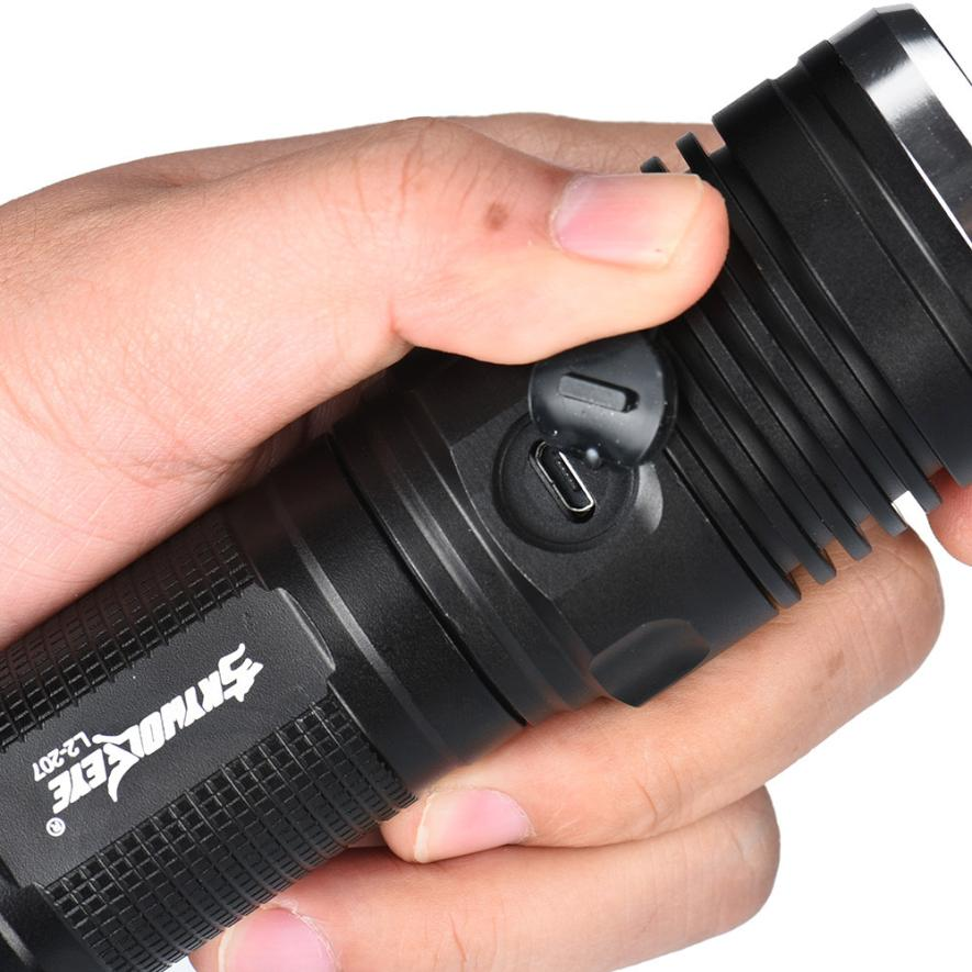 DC 23 Shining Hot Selling Drop Shipping ZOOM CREE XM-L2 U2 LED 3 Mode USB Rechargeable Flashlight Torch 26650 Battery