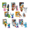 2016 New 8set/lot Hot Sales minecraftees Toys Model Game Juguetes Action Figures Safe ABS Gifts for Kids Brinquedos blocks