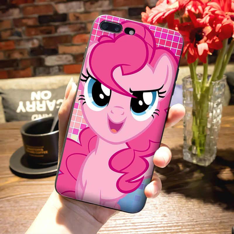 MaiYaCa Синий Розовый Мой маленький пони Радуга тире облака мультфильм цветной чехол для телефона iPhone 8 7 6 6 S Plus X 5 5S SE 5C caseshell