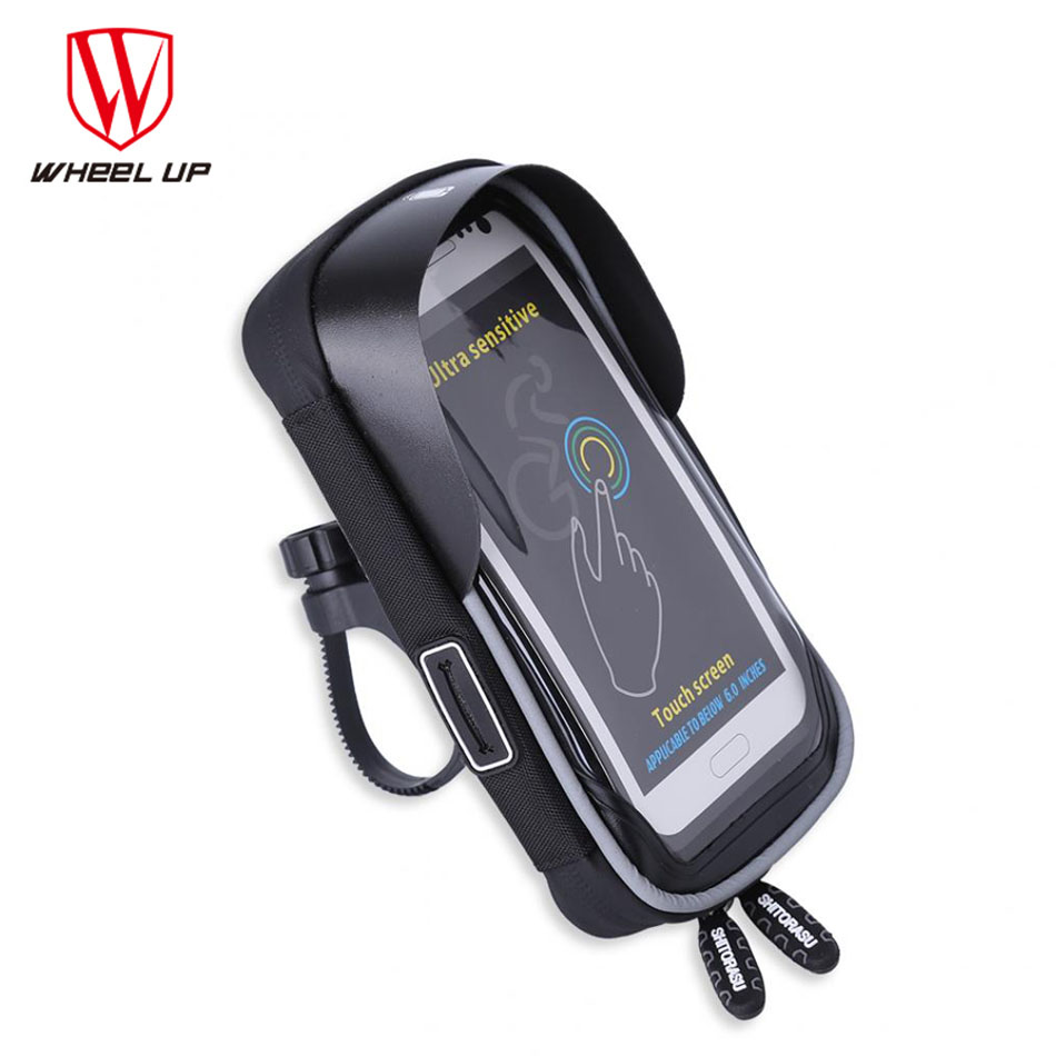 fa9c51e15cd WHEEL UP Bicycle Phone Bag Touch Screen Cell Phone Holder Bicycle Handlebar  Bags MTB Bike Frame Pouch Bag Waterproof For GPS