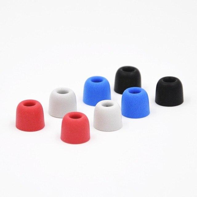 AK 4 Pairs (8 pcs) KZ izolowanie szumów pianka C zestawy 3mm 5mm T100 T400 ucha porady dla ucha słuchawki douszne