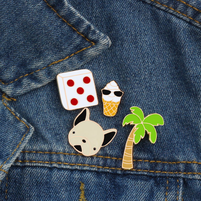 Badges 1 Pcs Cartoon Panda Elephant Metal Badge Brooch Button Pins Denim Jacket Pin Jewelry Decoration Badge For Clothes Lapel Pins Elegant Shape Apparel Sewing & Fabric