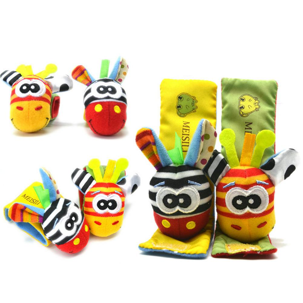 1PC Set Wrist Rattle Educational Toy Baby Cartoon Cute Figure Toy in Baby Rattles Mobiles from Toys Hobbies