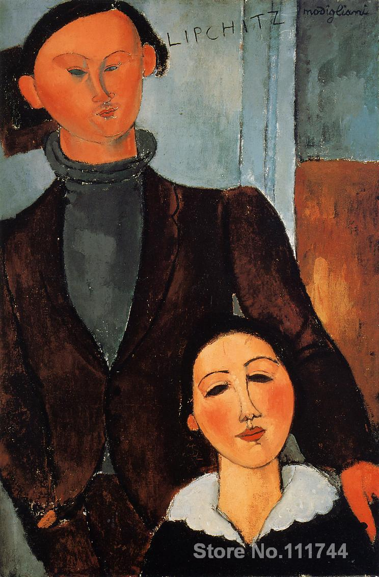 Kitchen art Jacques and Berthe Lipchitz by Amedeo Modigliani paintings Home Decor Hand painted High qualityKitchen art Jacques and Berthe Lipchitz by Amedeo Modigliani paintings Home Decor Hand painted High quality