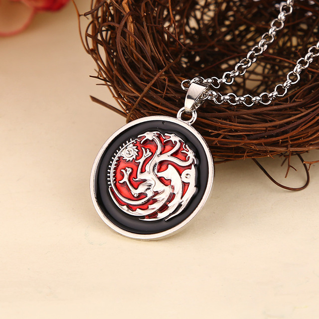 Game Of Thrones Targaryen Dragon Badge Necklace