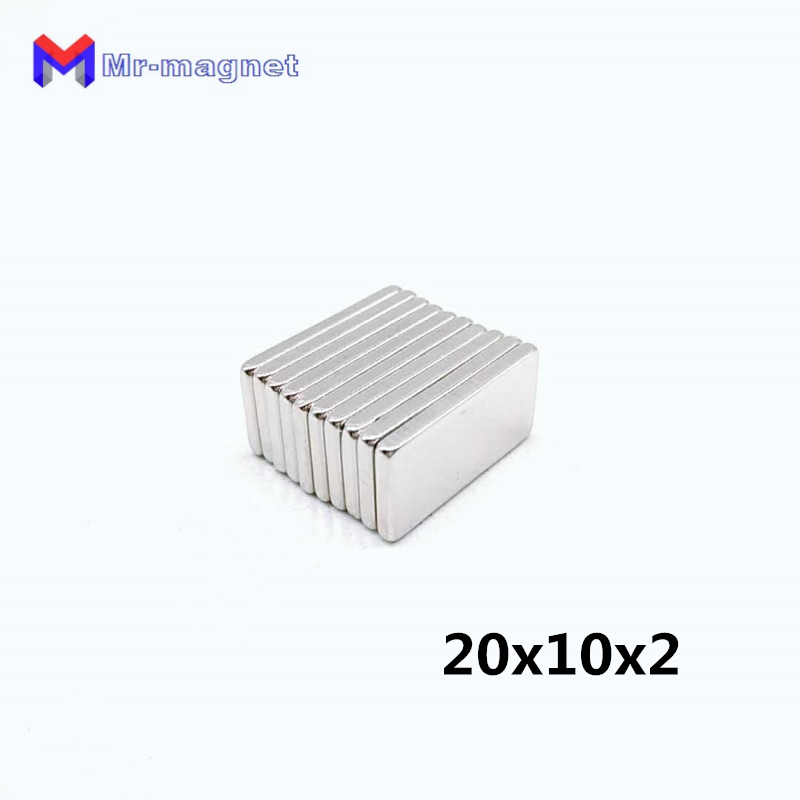 100pcs 20x10x2mm Super strong neo neodymium magnets 20mm x 10mm x2mm N35,  20x10x2 magnet size 20*10*2 mm supplier