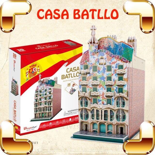 Nuovo arrivo regalo casa batllo 3d puzzle famoso edificio costruzione giocattoli educativi fatti