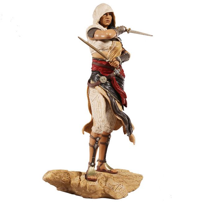 27CM pvc anime figure Assassin's Creed Origins Aya statue action figure collectible model toys for boy assassin s creed origins action figure bayek aya pvc 230mm anime assassin s creed origins figurine model toys