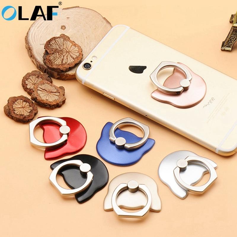 Olaf Luxury 360 Degree Metal Finger Ring Holder Mobile Phone Holder Finger Stand Holder For IPhone 7 For Samsung Xiaomi Tablets