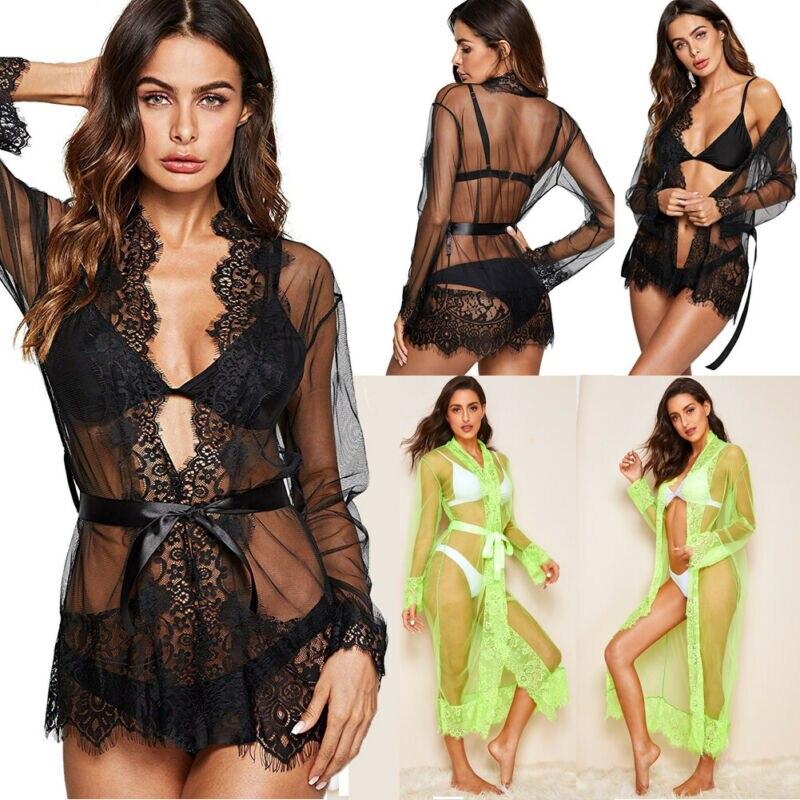 New Women's Sexy Lingerie Babydoll Sleepwear Underwear Lace Nightgown Set Casual Dress