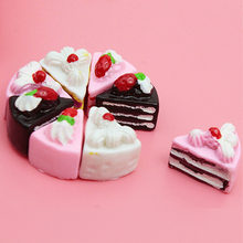 10PCS Kawaii Flat Back DIY Miniature Artificial Fake Food Cake Resin Cabochon Decorative Craft Play Doll House Toy Phone Straps(China)