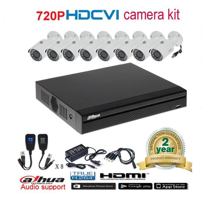 Dahua original 720P DHI HAC HFW1100S Waterproof night vision Bullet IR CVI Camera with H 264