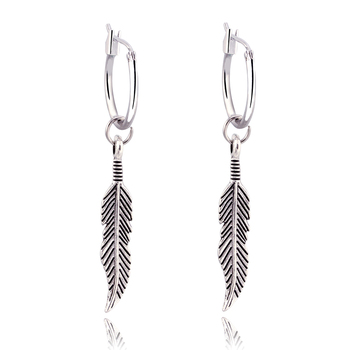 GEOMEE 1Pair Bohemia Vintage Dangle Earing Feather Leaves Pendant Leaf Drop Earrings for Women Jewelry Brincos Pendientes