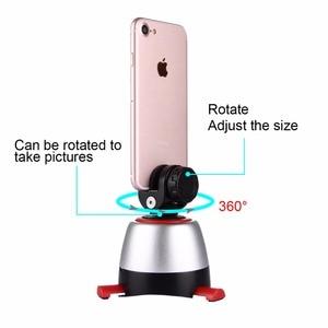 Image 3 - PULUZ אלקטרוני 360 תואר סיבוב פנורמי חצובה ראש מסתובב פאן ראש & מרחוק בקר לgopro Smartphone DSLR (אדום)