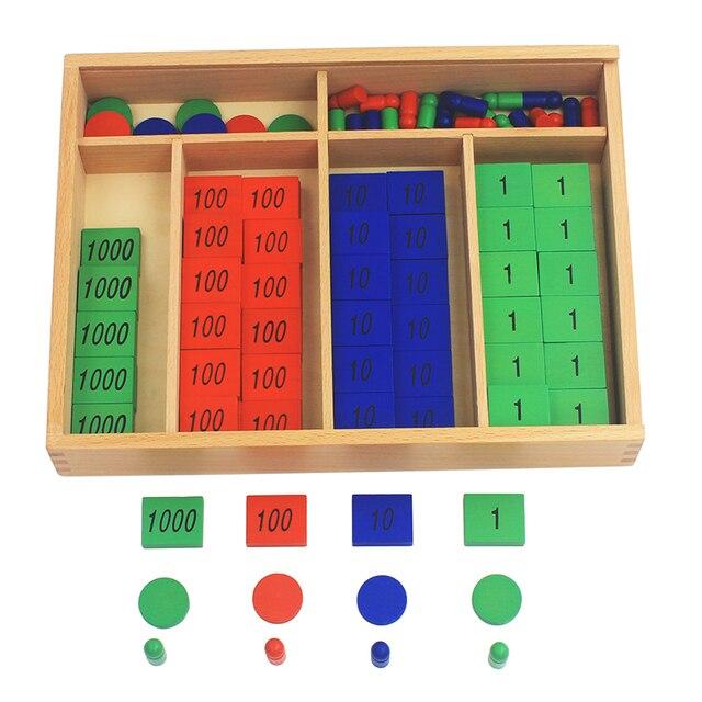 New Arrival Montessori วัสดุไม้ของเล่นแสตมป์เกมขนาดใหญ่ Beech ไม้คณิตศาสตร์ของเล่นเด็ก Early การศึกษาเด็กของขวัญวัน