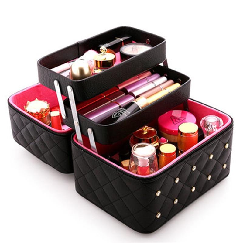 Women Cosmetic Box Designer High Quality Portable Cosmetic
