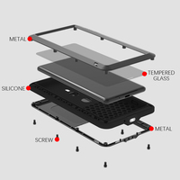 LOVE MEI Case For Sony Xperia XZ3 Metal Armor Cover For Sony Xperia XZ3 Aluminum Shockproof Waterproof Case For Sony Xperia XZ3