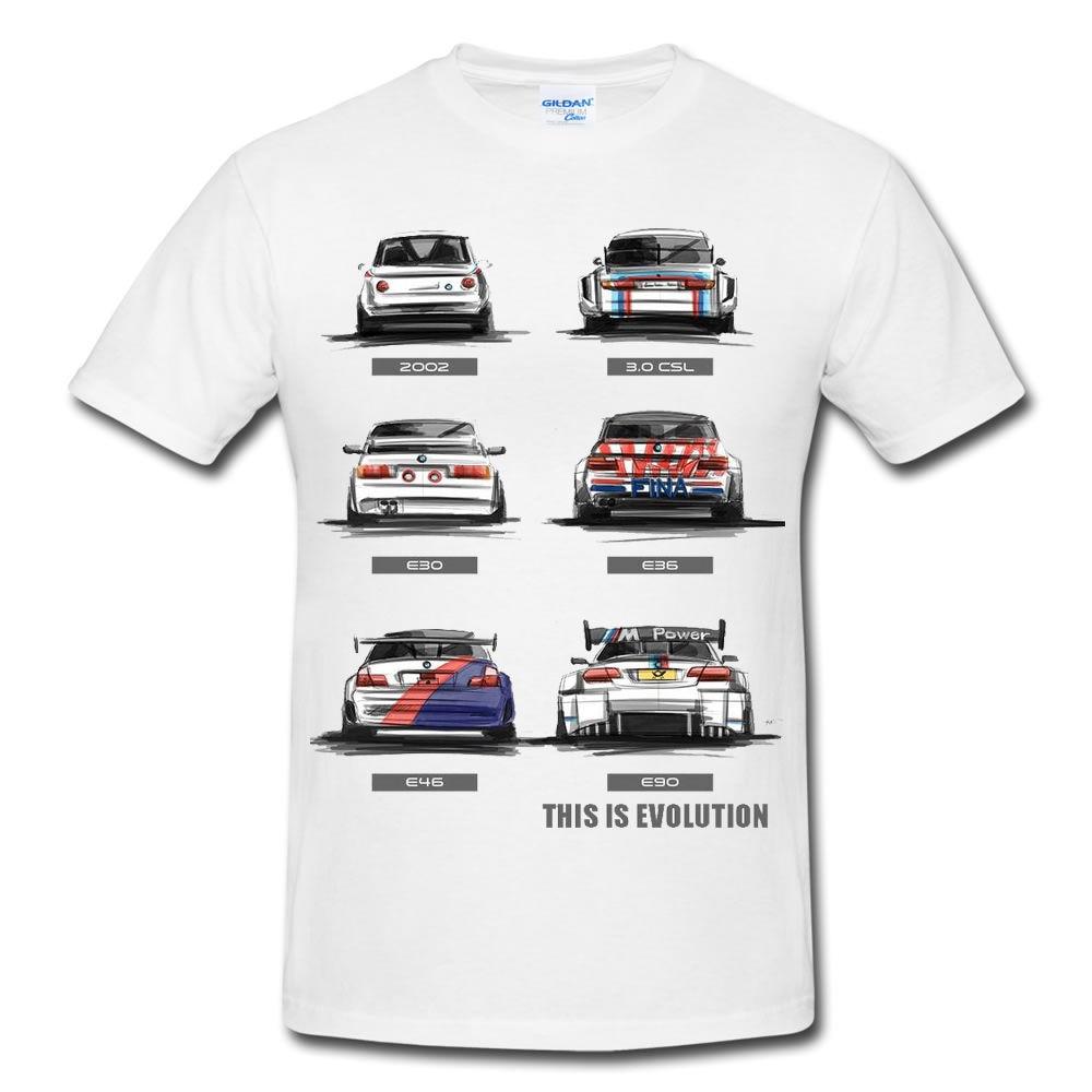 New Fashion Men T Shirt Cotton Men Short Sleeve Tee Shirts M3 Motorcycle Evolution E30 E36 E46 E90 2002 T-shirt