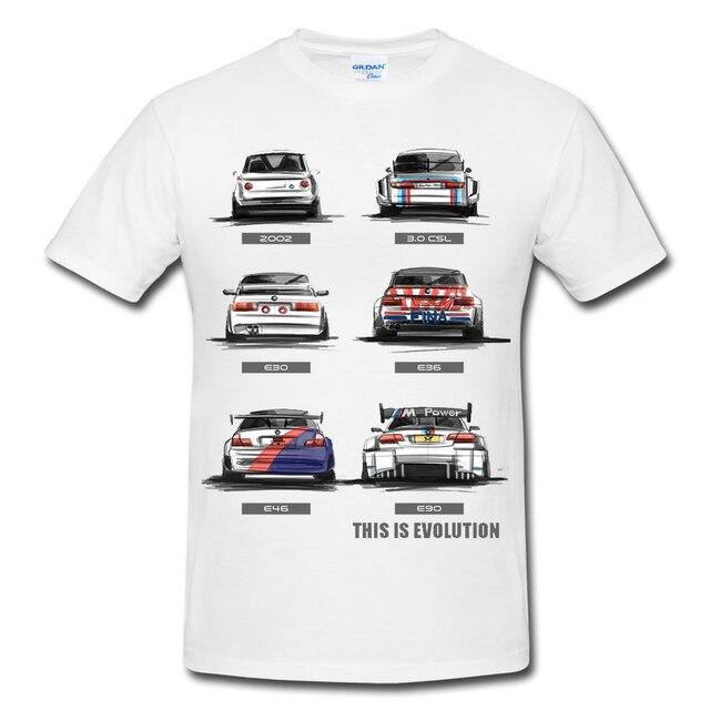 Nueva moda de los hombres T camisa de los hombres de algodón de manga corta Camiseta M3 de evolución E30 E36 E46 E90 2002 camiseta