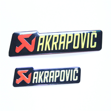 5Pcs a pack AKRAPOVIC Brand motorcycle exhaust pipe Aluminum standard stickers akrapovic exhaust pipe sticker free shipping