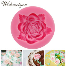 WISHMETYOU 1PC Flowers Rose Carnation Peony Flower Decorative Tools Silicone Soap Mold Cake Decoration Chocolate Ice