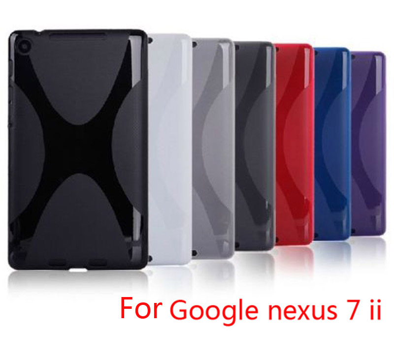 High quality X Line TPU Case Cover Silicone Skin Soft Gel Case for Google Nexus 7 II 2 2013 2nd 2 Generation стоимость