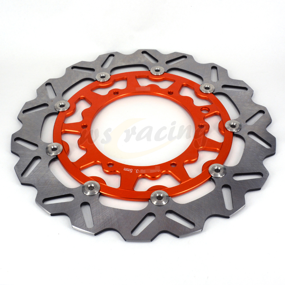 CNC 320MM Motorcycle Front Floating Brake Disc Rotor For KTM XCG525 XCW525 MXC525 XC525 EXC530 SXC540 SXS540 GS600 MX600 LC4 600 320mm oversized brake disc with bracket fits for ktm exc sx sxf gs mxc sxs sxc lc4