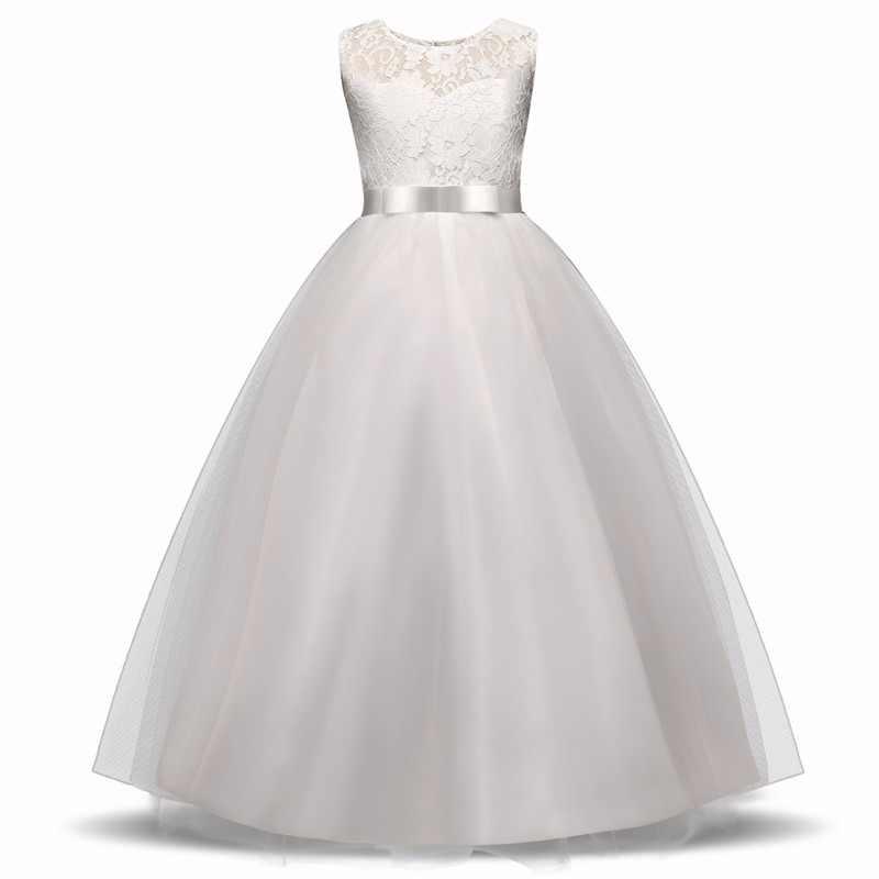 Kids Christmas Dresses For Girls Children Long Dresses Teenage Girl Clothes  Plus Size Lace Princess Costume 0c46b64db403