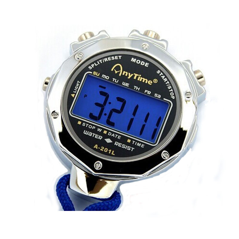 10 Memory Digital Stopwatch With Light Professional Military Lap Metal Interval Counter Sports Referee Chronograph Equipment